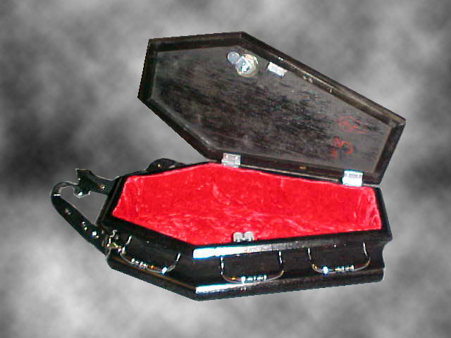 Vampire Coffin Purse - Interior