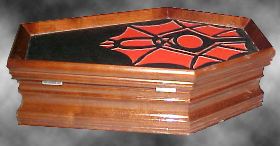 Bat Moon Jewelry Coffin