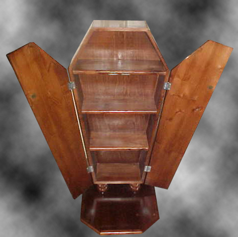 Freestanding DVD Coffin