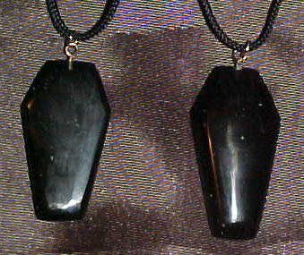 Assorted Hand Carved Obsidian Coffin Gems