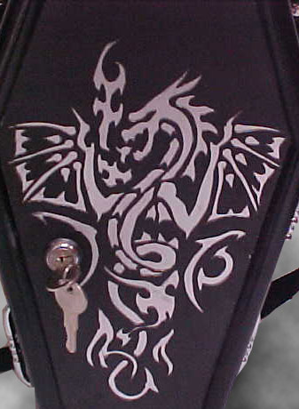Coffin Purse 19 - The Silver Dragon Purse