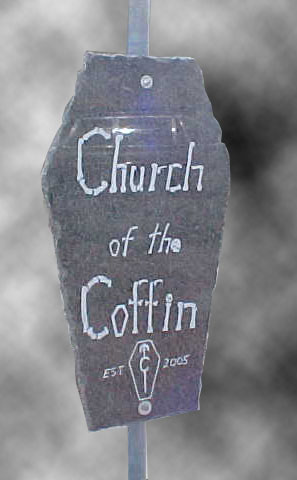 Church of the Coffin Sign