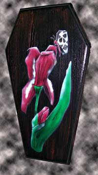 Death Iris coffin painting