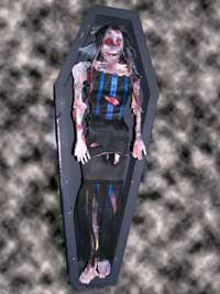 Dead Emo pixie corpse with coffin
