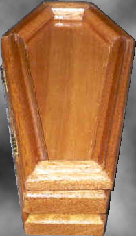 Mahogany Keepsake Coffin